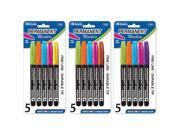 Image of Bazic 1209-24 Fancy Colors Fine Tip Permanent Markers- Pack of 24