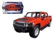 2009 Hummer H3T Orange 1 26 Diecast Model Car by Maisto