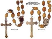 Olive Wood Rosary with Jerusalem Holy Earth