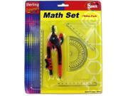 Math Measuring set with Pencil Case Pack 24 9SIA2F84W65548