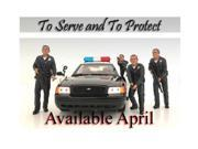 Police Officers 4 Piece Figure Set For 1:24 Scale Models by American Diorama 9SIA62V5BG5778