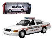 Motormax 73525ww Ford Crown Victoria West Warwick Ri Police Car 1 18 Diecast Model Car