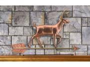 White Tail Buck Pure Copper Weathervane Sculpture on Mantel Stand: Home Dcor by Good Directions 9SIA62V5JG2991