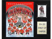 CandICollectables 1215SC15 NHL 12 x 15 in. Chicago Blackhawks 2014-2015 Stanley Cup Champions Plaque 9SIA00Y51U2751