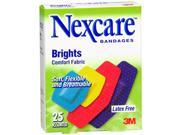 Nexcare Brights Comfort Fabric Bandages Assorted - 25ct