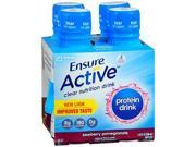 Ensure Active Protein Drinks Blueberry Pomegranate 10 oz. 4 ct - 40 oz. cs of 3