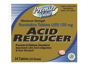 Premier Value Ranitidine Max Str 150 Mg Tabs 24ct