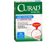 Curad Non-Stick Pads With Adhesive Tabs 2X3 - 10 ct
