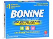 Bonine Motion Sickness Protection Chewable Tablets Raspberry 16 ea.