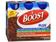 Boost Plus Complete Nutritional Drinks Rich Chocolate, 6 - 8 oz.