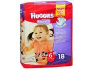 Huggies Little Movers Diapers Size 6 Over 35 lb - 4 Packs of 18