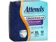 Attends Underwear Overnight Extra-Large - 4 pks of 12