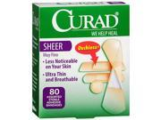 Curad Sheer Bandages Assorted Sizes - 80 ct