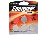Energizer Zero Mercury 3 V cc Lithium Batteries 2032BP - 4 ct