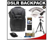 "Vivitar Series One Digital SLR Camera/Laptop Sling Backpack - Medium (Black) Holds Most 15.4'"" Laptops with 58"" Tripod + Camera & Laptop Cleaning Kits"