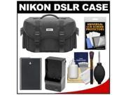 Nikon 5874 Digital SLR Camera Case - Gadget Bag with EN-EL14 Battery + Charger + Accessory Kit