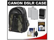 Canon 200EG Deluxe Digital SLR Camera Backpack Case with (2) LP-E5 Batteries & Charger + Accessory Kit