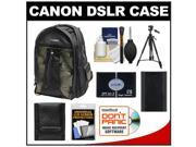Canon 200EG Deluxe Digital SLR Camera Backpack Case with LP-E6 Battery + Tripod + Accessory Kit