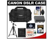 Canon 2400 Digital SLR Camera Case - Gadget Bag with LP-E6 Battery + Tripod + Accessory Kit