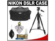 Nikon 5874 Digital SLR Camera Case - Gadget Bag with Tripod + Cleaning & Accessory Kit