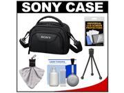 Sony LCS-VA15 Carrying Case for Handycam Camcorders (Black) with Cleaning Accessory Kit