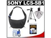Sony LCS-SB1 Sling Case for Handycam, Cyber-Shot, NEX Digital Camera (Black) with Tripod + Accessory Kit