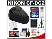 Nikon CF-DC2 Semi-Soft Holster Digital SLR Camera Case for D3200, D5100, D5200, D5300 with 16GB Card + Tripod + Accessory Kit