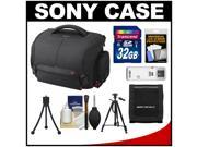 Sony LCS-SC21 Soft Digital SLR Camera Carrying Case with 32GB SD Card + Tripod + Accessory Kit