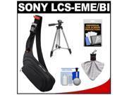 Sony LCS-EME/BI E-Mount NEX Digital Camera Sling Case with Tripod + Accessory Kit