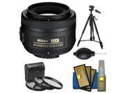 Nikon 35mm f/1.8 G DX AF-S Nikkor Lens with Tripod + 3 UV/CPL/ND8 Filters + Cleaning Kit