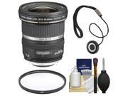 Canon EF-S 10-22mm f/3.5-4.5 USM Ultra Wide Angle Zoom Lens with UV Filter + Accessory Kit