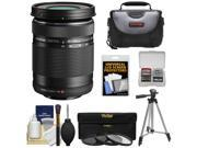 Olympus M.Zuiko 40-150mm f/4.0-5.6 R Micro ED Digital Zoom Lens (Black) with UV/CPL/ND8 Filter Set + Case + Tripod + Accessory Kit