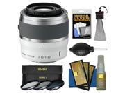 Nikon 1 30-110mm f/3.8-5.6 VR Nikkor Lens (White) with 3 UV/CPL/ND8 Filters + Cleaning & Accessory Kit