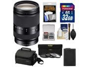 Sony Alpha E-Mount E 18-200mm f/3.5-6.3 LE OSS Zoom Lens with Sony Case + 32GB Card + 3 UV/CPL/ND8 Filters + Battery + Accessory Kit