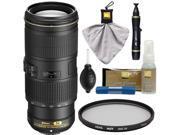 Nikon 70-200mm f/4G VR AF-S ED Nikkor-Zoom Lens with UV Filter + Cleaning Kit
