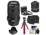 Canon EF 70-300mm f/4-5.6 IS USM Zoom Lens with Case + Flex Tripod + 3 UV/CPL/ND8 Filters + Hood + Accessory Kit