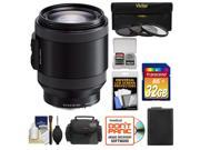Sony Alpha E-Mount 18-200mm f/3.5-6.3 OSS PZ Zoom Lens with 32GB Card + Battery + Case + 3 (UV/ND8/CPL) Filters + Accessory Kit
