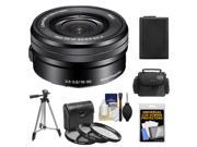 Sony Alpha E-Mount 16-50mm f/3.5-5.6 OSS PZ Zoom Lens with Battery + Case + 3 (UV/CPL/ND8) Filters + Tripod + Accessory Kit