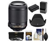 Nikon 55-200mm f/4-5.6G VR DX AF-S ED Zoom-Nikkor Lens with EN-EL15 Battery & Charger + 3 UV/CPL/ND8 Filters + Hood + Kit