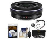 Olympus M.Zuiko 14-42mm f/3.5-5.6 EZ Digital Zoom Lens (Black) with 3 UV/CPL/ND8 Filters + Accessory Kit