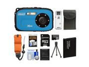 Coleman Xtreme C5WP Shock & Waterproof Digital Camera (Blue) with 8GB Card + Battery + Floating Strap + Case + Accessory Kit