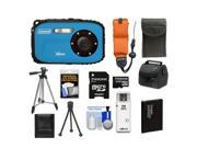 Coleman Xtreme C5WP Shock & Waterproof Digital Camera (Blue) with 8GB Card + Battery + Floating Strap + (2) Cases + Tripod + Accessory Kit