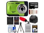 Bell & Howell Splash WP10 Shock & Waterproof Digital Camera (Green) with 8GB Card/Reader + Case + Batteries/Charger + Tripod + Accessory Kit