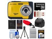 Bell & Howell Splash WP10 Shock & Waterproof Digital Camera (Yellow) with 8GB Card/Reader + Case + Batteries/Charger + Tripod + Accessory Kit