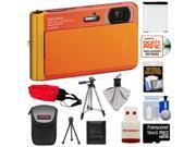 Sony Cyber-Shot DSC-TX30 Shock & Waterproof Digital Camera (Orange) with 16GB Card + Battery + Case + Floating Strap + Tripod + Accessory Kit