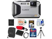 Panasonic Lumix DMC-TS5 Shock & Waterproof Wi-Fi GPS Digital Camera (Silver) with 32GB Card + Battery + Case + Floating Strap + Flex Tripod + Accessory Kit
