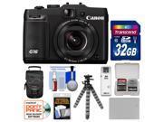 Canon PowerShot G16 Wi-Fi Digital Camera (Black) with 32GB Card + Case + Battery + Flex Tripod + Accessory Kit