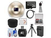 Sony Cyber-Shot DSC-QX10 Smartphone Attachable Lens-Style Digital Camera (White) with 32GB Card + Case + Battery & Charger + Flex Tripod + HDMI Cable + Accessor