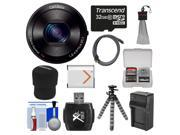 Sony Cyber-Shot DSC-QX100 Smartphone Attachable Lens-Style Digital Camera (Black) with 32GB Card + Case + Battery & Charger + Flex Tripod + HDMI Cable + Accesso