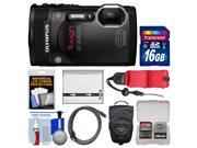 Olympus Tough TG-850 iHS Shock & Waterproof Digital Camera (Black) with 16GB Card + Case + Battery + Float Strap + Accessory Kit